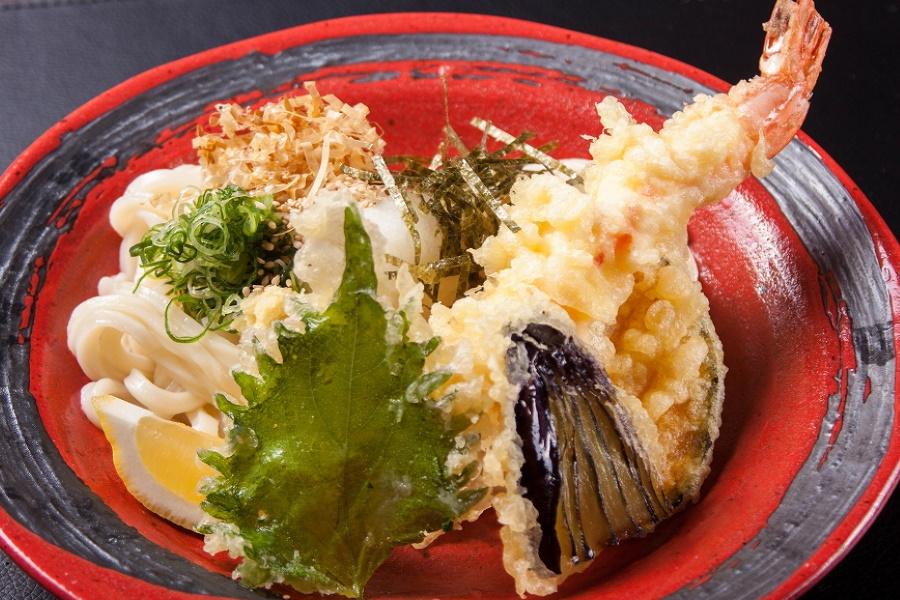 海老野菜天ぶっかけ